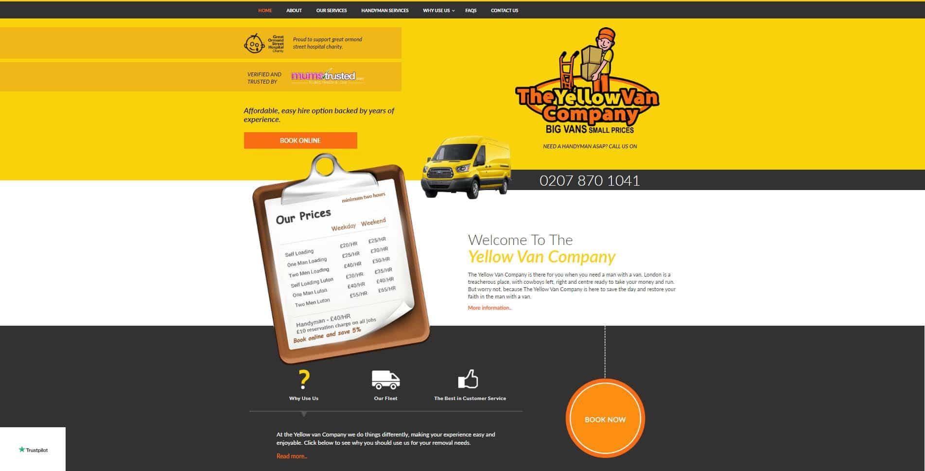 Yellow Van Company Portofolio Image